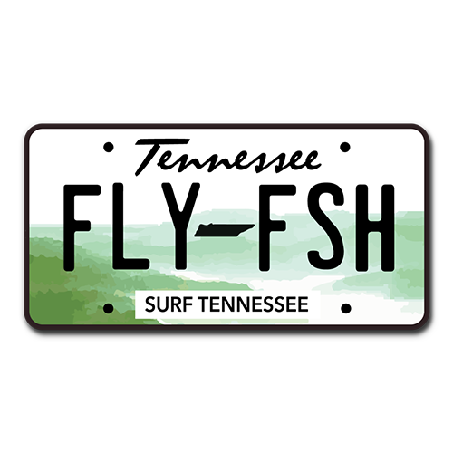 The Fly Fish Vanity Plate Sticker