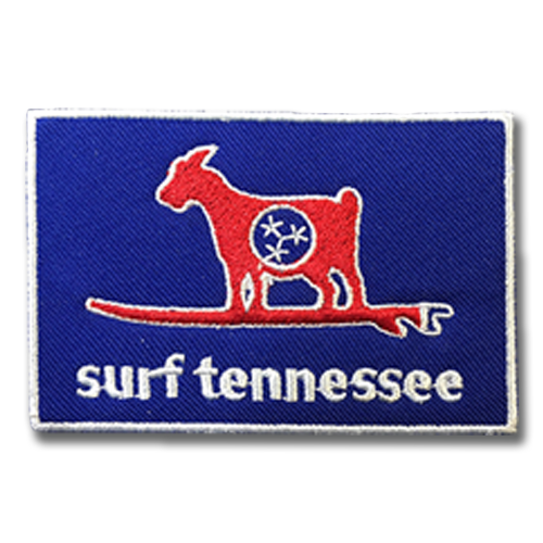 Goat on a Stick Patch - surf tennessee tennessee shirts