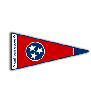 The Pickett Pennant Sticker - surf tennessee tennessee shirts