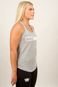 barqueen barking crossfit fitness barkingbarqueen bodybuilding sports gymwear workout performance crown tank marl womens ladies box fit clothing fitcross gymtop workoutgear running premium xfit exercise treadmill abs weight cardio bar-kingclothing strength strong aerobic fitnessstudio pt muscluation programing diet plan sport training compete grey