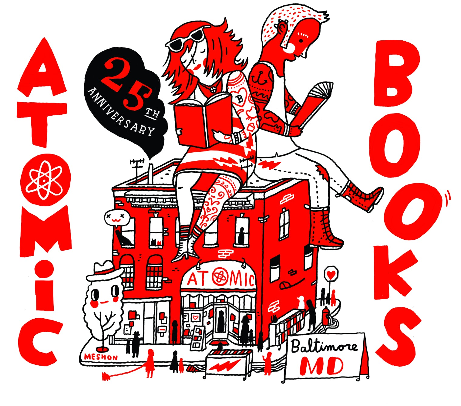 Atomic Books 25th Anniversary Tote