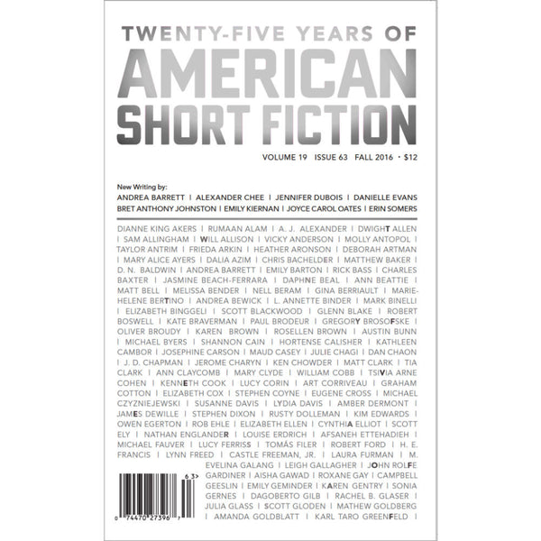 American Short Fiction #63 (Vol. 19)