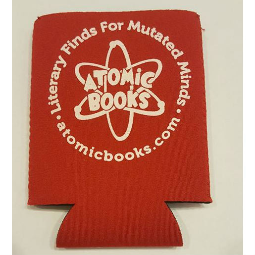Atomic Books Beer Koozie