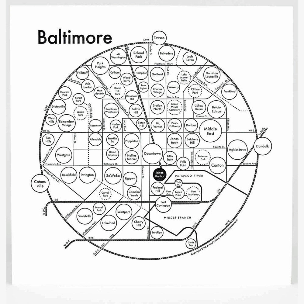Baltimore Letterpress Print