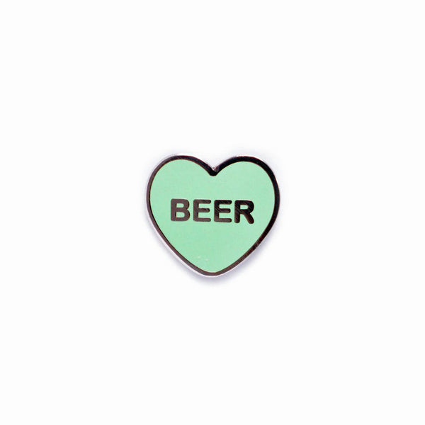 Beer Candy Heart Pin