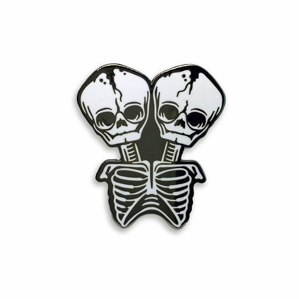 Conjoined Skeleton Pin