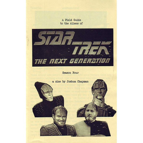 Field Guide To The Aliens Of Star Trek The Next Generation Season 4