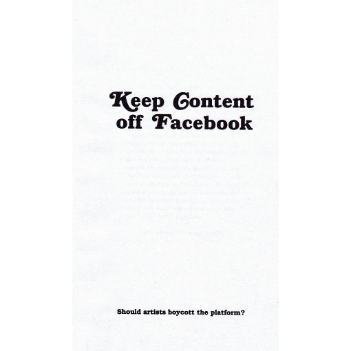 Keep Content Off Facebook