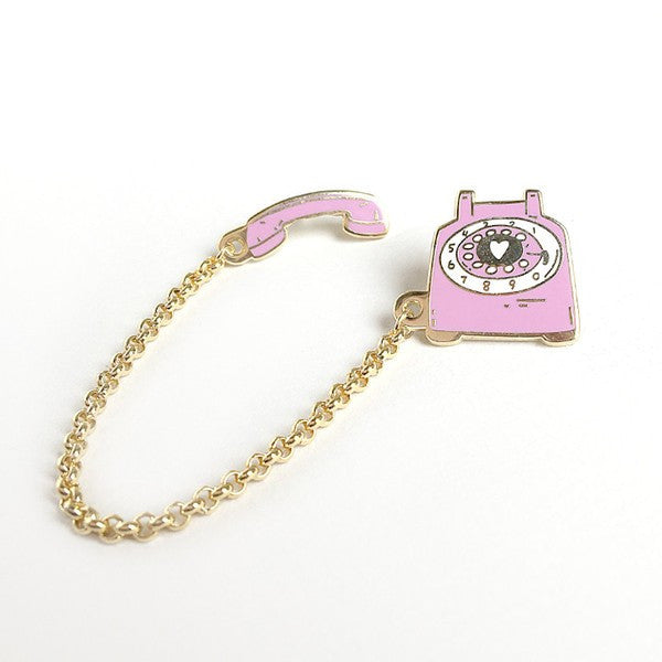 Rotary Dial Telephone Pin (Pinkberry)