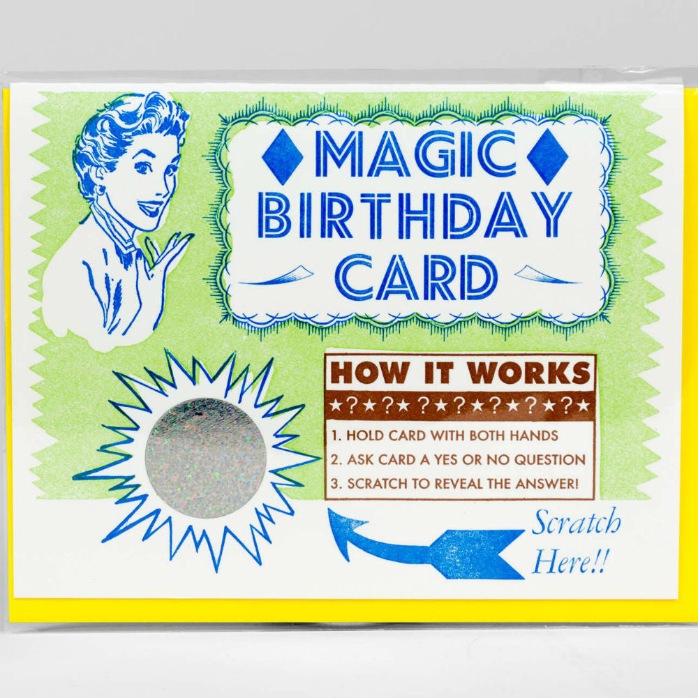 Magic Birthday Scratch Off Notecard