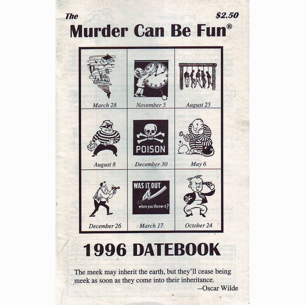 Murder Can Be Fun Datebook 1996