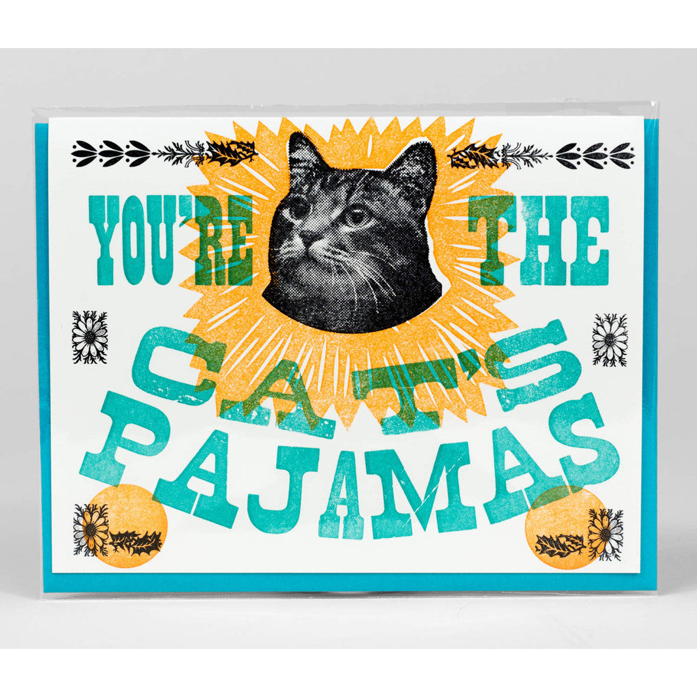 You're the Cat's Pajamas Notecard