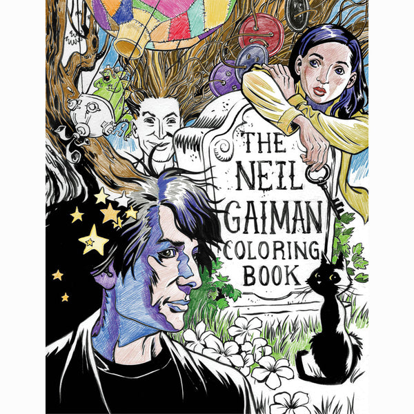 Neil Gaiman Coloring Book