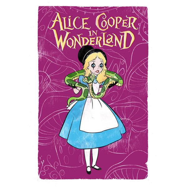 Alice Cooper In Wonderland Postcard