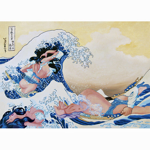 Hokusai Wave Postcard