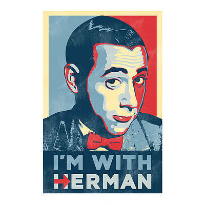 I'm With Herman Postcard
