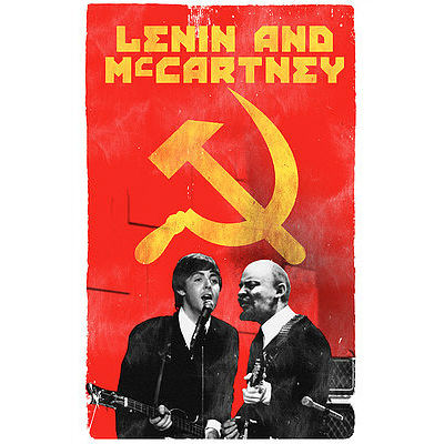 Lenin And McCartney Postcard