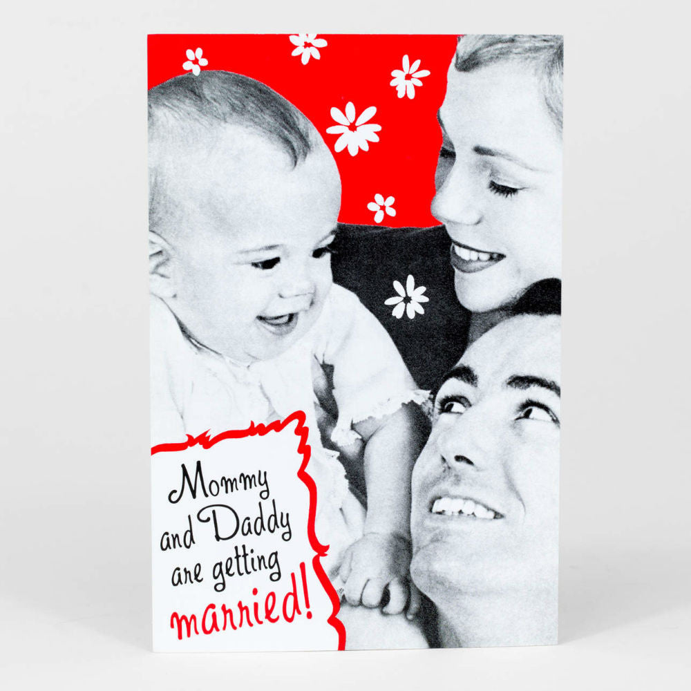 Mommy And Daddy Postcard