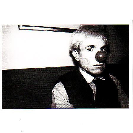 Andy Warhol Goofing Off During Lent Postcard