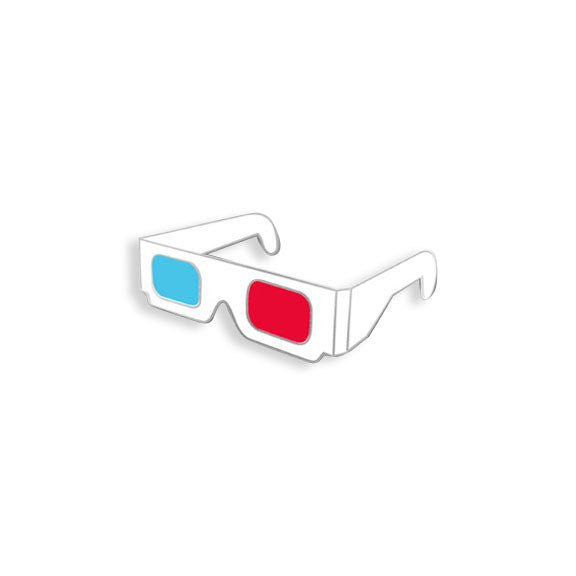 3D Glasses Pin