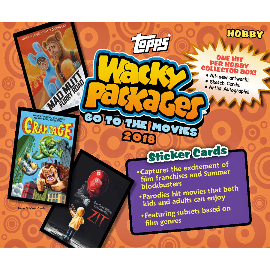 Wacky Packages Sticker Pack 2018 Movies