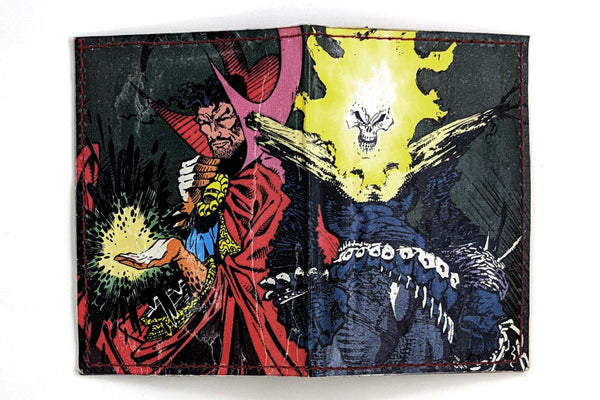 Ghost Rider Doctor Strange Card Holder Wallet with Snap Closure