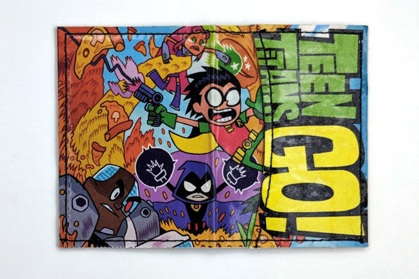 Recycle Comic Book Manga Pages Vinyl Wallet Teen Titans Go