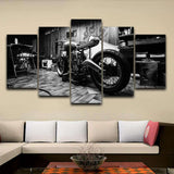 "Tableau Moto ""Cafe racer en conception"""