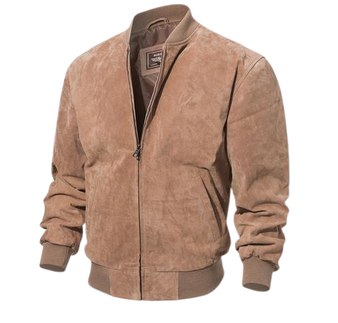 bomber cuir suede