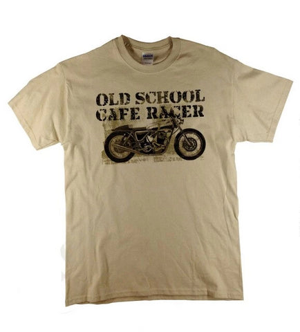 T-shirt moto cafe racer old school