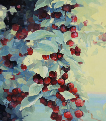 Jaime Prosser Art Cherry-Tree's & Yellow Air painting