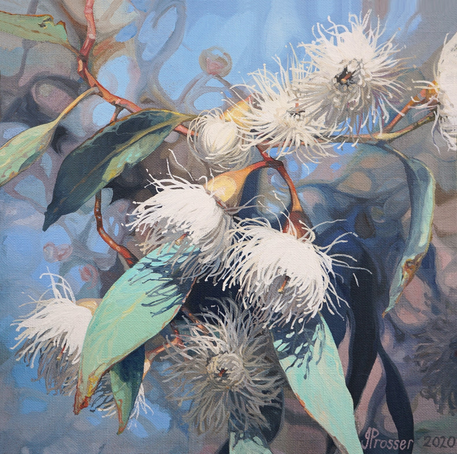 Flowering Gums painting by Jaime Prosser