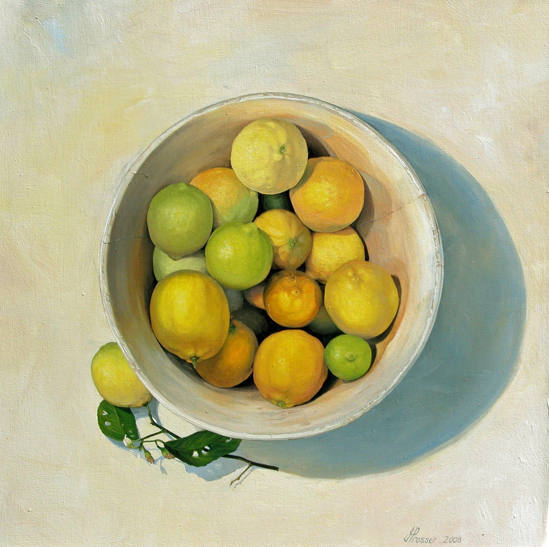 AUSTRALIAN ART FOR SALE - Bowl Of Lemons & Limes - JAIME PROSSER ART - JAIME PROSSER ART