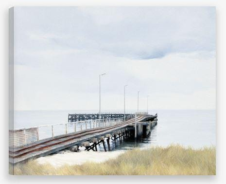 Seaside Art - Beach Jetty - JAIME PROSSER ART - JAIME PROSSER ART