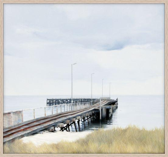 Australian seaside art prints - Beach Jetty - JAIME PROSSER ART - JAIME PROSSER ART