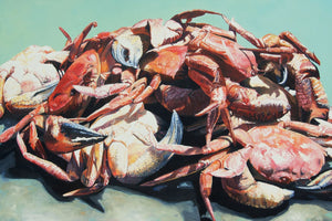 Open image in slideshow, Crabs prints of painting Crabs A Plenty by JAIME PROSSER ART