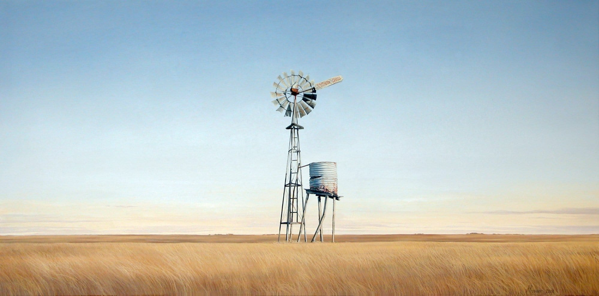 Landscape With Old Windmill Print - JAIME PROSSER ART