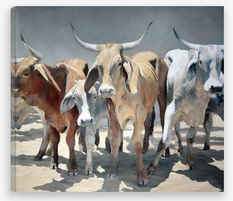 Northern Longhorns Print by JAIME PROSSER ART