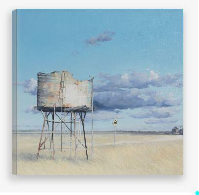 CANVAS PRINTS - Old Water Tank Print - JAIME PROSSER ART