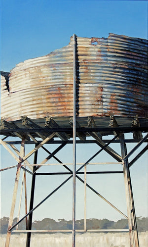 Open image in slideshow, Australian Art - Rusty Tank Near Pinnaroo Print - JAIME PROSSER ART