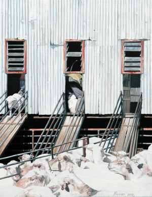 Open image in slideshow, Shearing Time Again Print - JAIME PROSSER ART