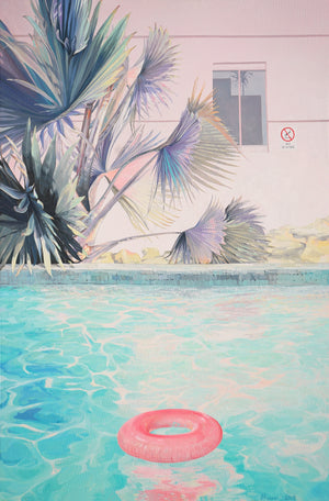 painting 'Poolside' by Jaime Prosser