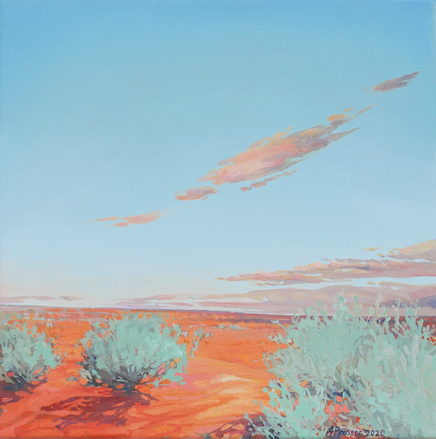 Red Dirt & Blue Sky Australian landscape