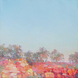 Open image in slideshow, Sunset Over Outback cliffs Landscape painting by Australian artist Jaime Prosser