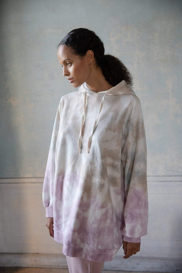 Ragdoll SUPER OVERSIZED SWEATSHIRT Rose Tie Dye