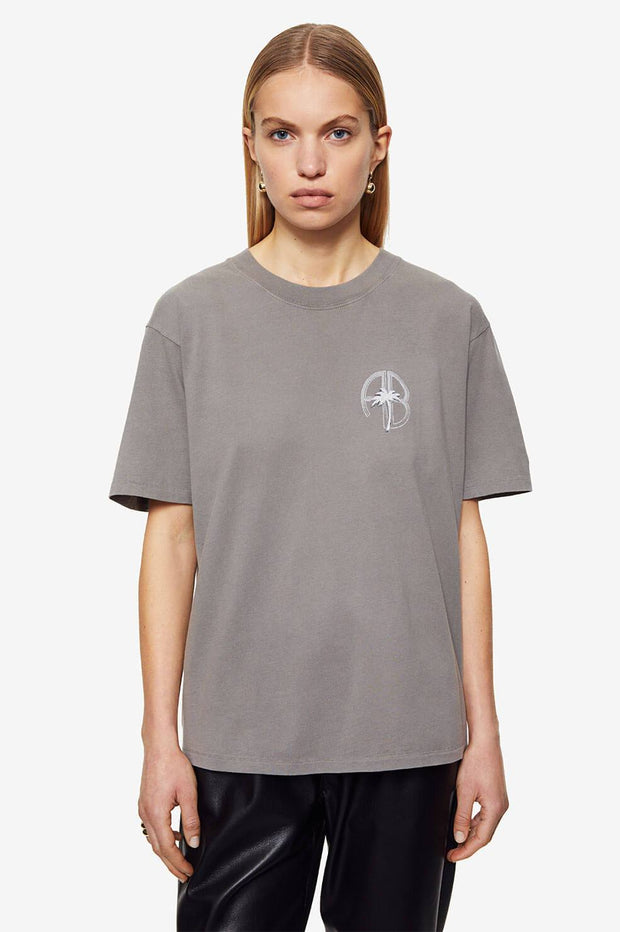 IDA TEE PALM - WASHED GREY