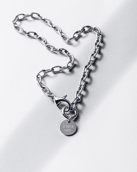 THE F* NECKLACE SILVER