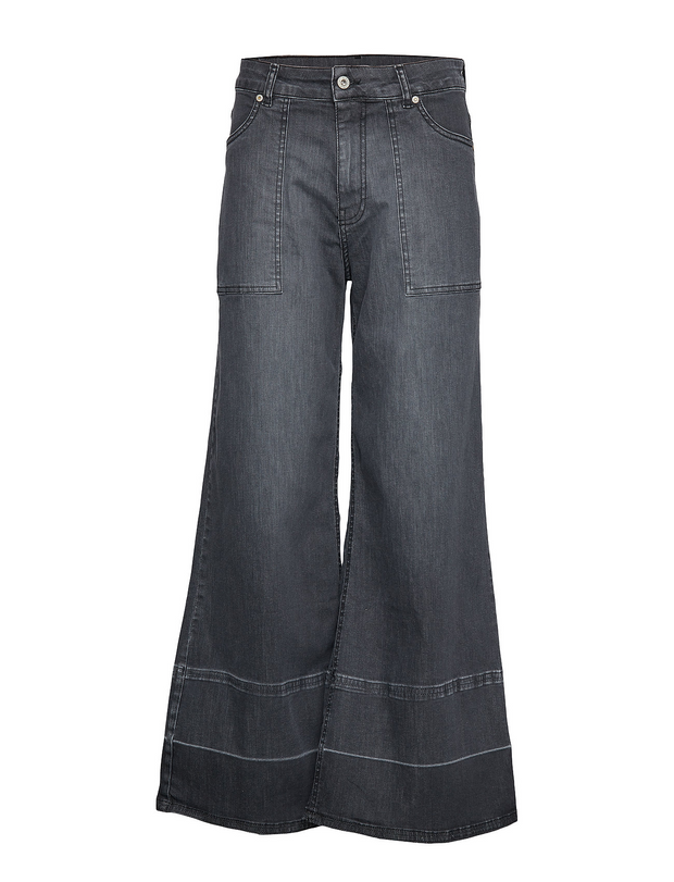 WIDE LEG BLACK DENIM