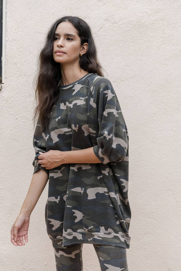 SUPER OVERSIZED SWEATSHIRT Camo Army