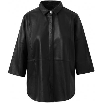 Shirt leather sort